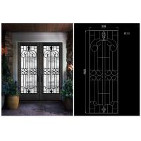 China OEM High Level Inlaid Door Glass for Building Decorative Art Glass Sound Insulation wholesale