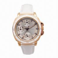 China New Style Men's Automatic Watch with IPG Plating on Case, Leather Strap, 5ATM Waterproof wholesale