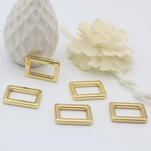 China 21 MM shiny gold metal bag adjustable square ring buckle for handbag strap wholesale