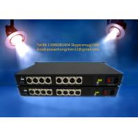 8CH Unidirectional XLR balanced audio over fiber extender for broadcast system Manufactures