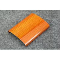 China Powder Coating / Anodized 6063 6061 Aluminum Railing Profiles With Imitation Wood Grain wholesale