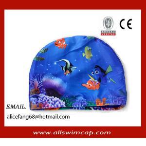China 2014 new design spandex lycra swim cap for kid wholesale