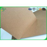 China Brown Kraft Liner Paper Board 80gsm - 350gsm Stretching Resistance For Cement Bag Paper wholesale
