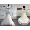 China Beautiful White Lace Mermaid Style Wedding Dress With Long Chapel Train Zipper Back wholesale