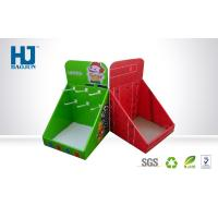 China Custom Printed Counter Cardboard Display Box with Hook Red , Packaging Cardboard Boxes wholesale