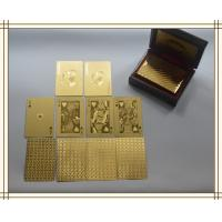 China 24k gold plated playing cards set in box poker deck 99.9% gold gift fathers day wholesale