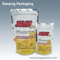 China Food Grade Jelly Powder Packaging Stand Up Zip Lock Bags With Aluminium Foil on sale