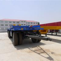 Buy cheap goods transportation flatbed tri axle 13T Fuwa BPW ZY axle 40 tons cargo full trailer from wholesalers