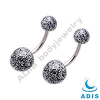China Belly Piercing Jewelry , Glitter Powder UV Acrylic Balls For Belly Button wholesale