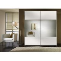 China Durable High Gloss Bedroom Furniture With MDF Mirror Sliding Door Wardrobe wholesale