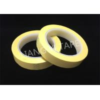 China Light Yellow Polyester Mylar Tape With Flame Retardant 0.055mm Thickness wholesale