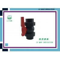 China High Pressure 2 Inch PVC Ball Valve / PVC True Union Ball Valve Flang Connection wholesale