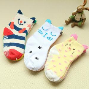 China High quality custom lovely cartoon design non slip baby socks wholesale