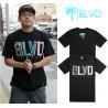 China Wholesale Newly Men's BLVD active top designer round collar short sleeve hip-hop T-shirt wholesale
