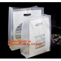 China 100% Biodegradable Hdpe/Ldpe Die Cut Patch Handle Personalized Color Printed Custom Plastic Shopping Bags bagease bagpla on sale
