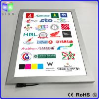 Quality Advertisement LED Poster Frame Light Box Wall Mounted 3D Laser Engraving for sale