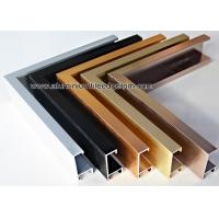China Brushed Effect Hanging Metal Photo Frame With Gold / Copper / Black wholesale