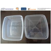 China Rectangular Large Clear Plastic Storage Containers Kitchen 650ml PP Disposable on sale