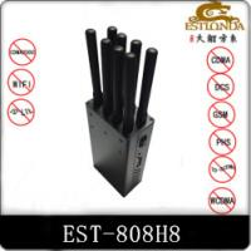China 8 Bands Handheld Cell Phone Signal Jammer 2G / 3G / 4G / Wifi Blocker AC110V-240V wholesale