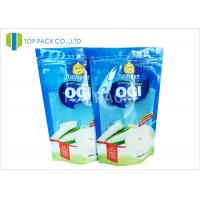 China Blue Clear Front 500g Stand Up Food Pouches , Powder Plastic Bag Packaging Food Grade wholesale