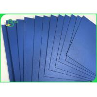 China 1.3mm 1.5mm 720 * 1020mm Blue Lacquered Solid Paperboard For File Folders wholesale