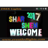 China Vintage LED Pillar Lights 16 Colors Changing Rechargeable Acrylic Letter Sign wholesale