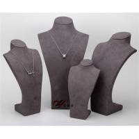 China Pendant Resin Display Stand , Gray 5  Pcs / Set Suede Jewelry Stand wholesale