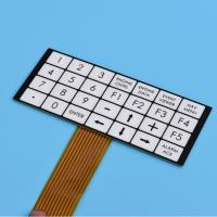 China Flexible Embossed Pcb Membrane Switch Fpc With 2.54mm Female Connector wholesale