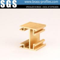 China Golden Copper Alloy Extrusion Profiles For Interior Decoration on sale