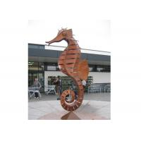 Buy cheap Large Decorative Outdoor Metal Animal Corten Steel Seahorse Sculpture from wholesalers