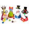 China Diy New paper Christmas hat party supplies children's kindergarten handmade paste DIY creative Christmas gift wholesale