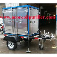 China Mobile Vacuum Transformer Oil Purification Machine Cost With Trailer wholesale