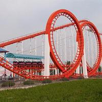 Buy cheap Thrilling Amusement Park Roller Coaster , Five Rings Funny Roller Coaster from wholesalers
