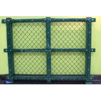 China Green HDPE-coated Chain Link Fence on sale