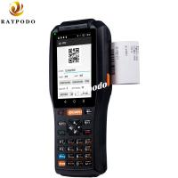 China QR Code Handheld Barcode Scanner 4'' 4G Bluetooth 4.0 With NFC RFID Printer Bulit In wholesale