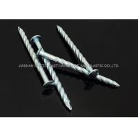 "China 6""X BWG5 Galvanized Twisted Nails Screw Shank Zinc Plated Round Head Nails Hardened wholesale"