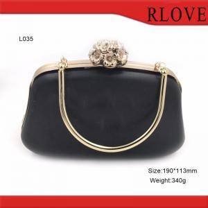China Bag part accessories gold metal flower lock purse plastic Box metal frame wholesale
