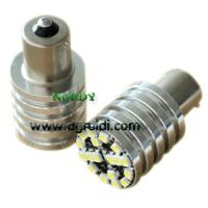 China AUDI canbus 1156 18smd3528 8W Error Free LED Bulbs high bright chromed cylinder bulb wholesale