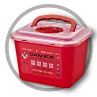 China 6 Litre Sharps disposal container, Sliding Lid, Red,Sharps Container  | WinnerCare wholesale