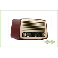China Wood Cabinet Classic Style Radio , Desktop Type , with Alarm Clock , LCD Display wholesale