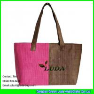 China LUDA unique handbags summer beach paper straw ladies handbag wholesale