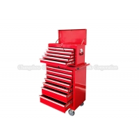China Red Garage 14 Drawers 680mm 27 Inch Tool Cabinet Combo On Wheels wholesale