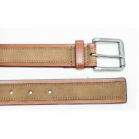 China Super Split Mens Casual Leather Belt with Leather Suede and Roller Buckle wholesale