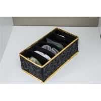 China 6 Cells Foldable Drawer Organizer For Socks And Underwear wholesale