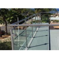 China Cheap Design Balcony stainless steel glass balustrade prices on sale