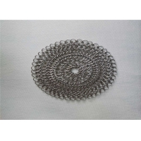 China 6''X6'' Round BBQ Stainless Steel Chainmail Scrubber wholesale