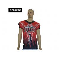 China Anti Wrinkle Custom College Football Jerseys XS-6XL No Color Limit Polyester Knit wholesale