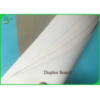 China Recycled Pulp White Coated Duplex Board 400g 61*61cm With Good Folding Resistant on sale