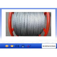 China Steel Pilot Wire Pulling Rope , 18 Strands 6 Squares Braided Steel Wire Rope wholesale