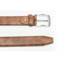 China Brown PU Leather Belt with Pong Buckle Adjustable Leather Belt wholesale